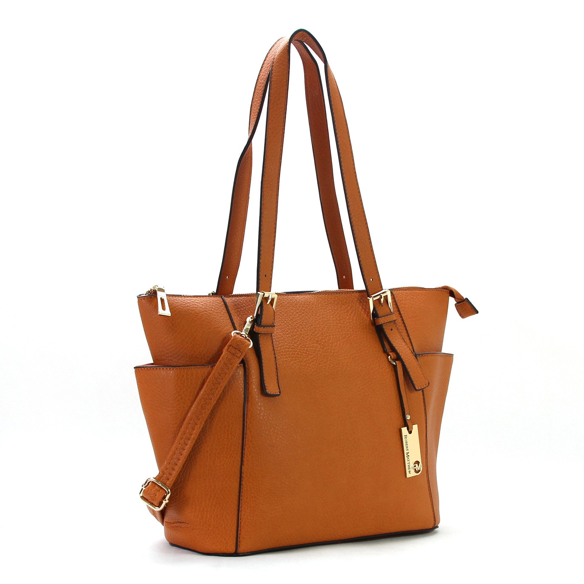 Handbag, Purse, Tote, Shoulder Bag - Robert Matthew Khloe Tote - Toasted Caramel