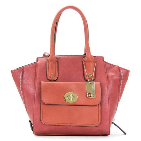 Handbag, Purse, Totes, Shoulder Bag, Bag - Robert Matthew Gigi Tote - Sunkist Scarlett