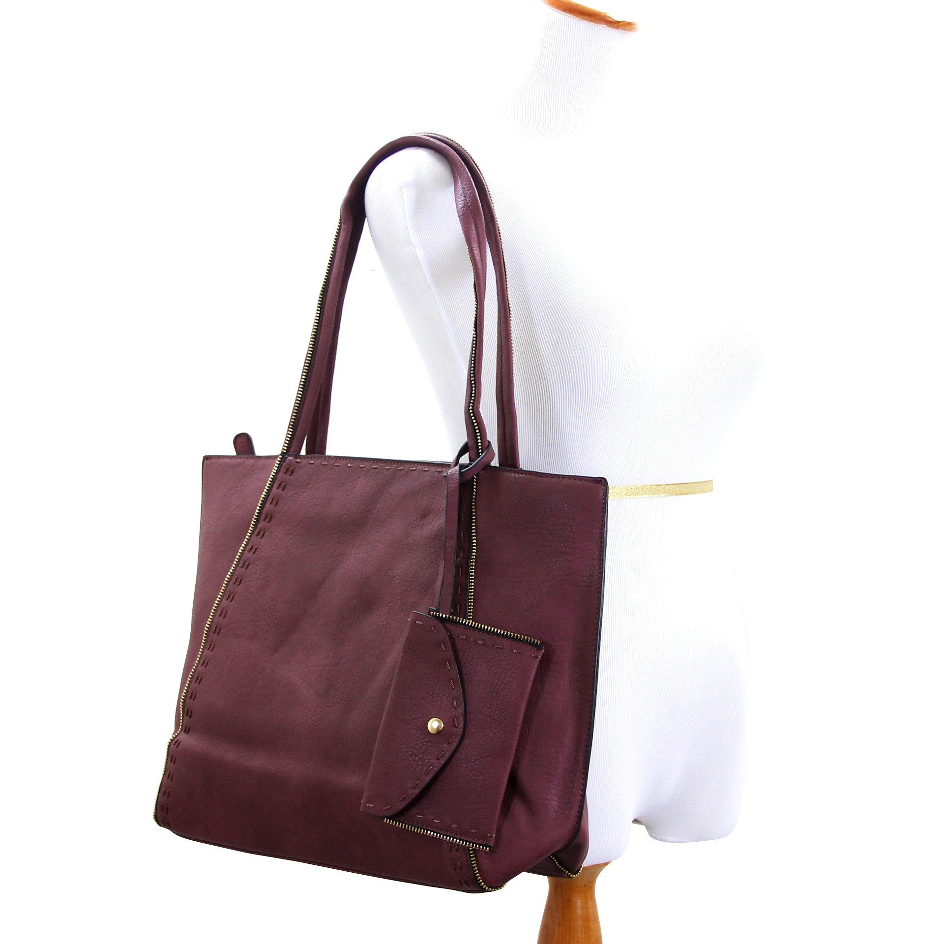 Handbag, Purse, Totes, Shoulder Bag, Bag - Robert Matthew Jordan Tote - Mauve