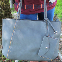 Handbag, Purse, Totes, Shoulder Bag, Bag - Robert Matthew Jordan Tote - Slate
