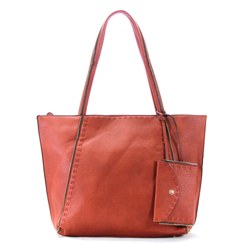 Handbag, Purse, Totes, Shoulder Bag, Bag - Robert Matthew Jordan Tote - Sunkist Scarlett