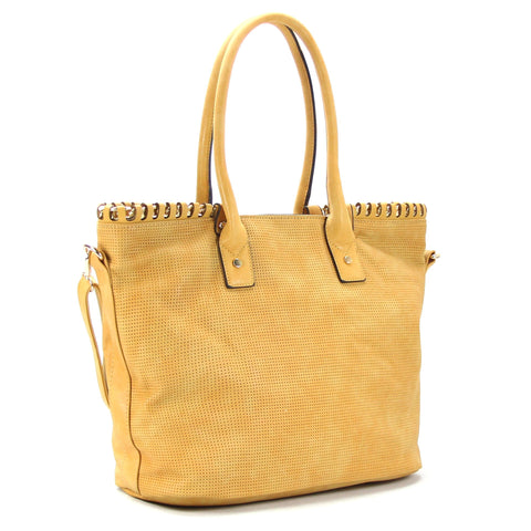 Handbag, Tote, Shoulder Bag - Robert Matthew Penelope Tote - Tan Oak