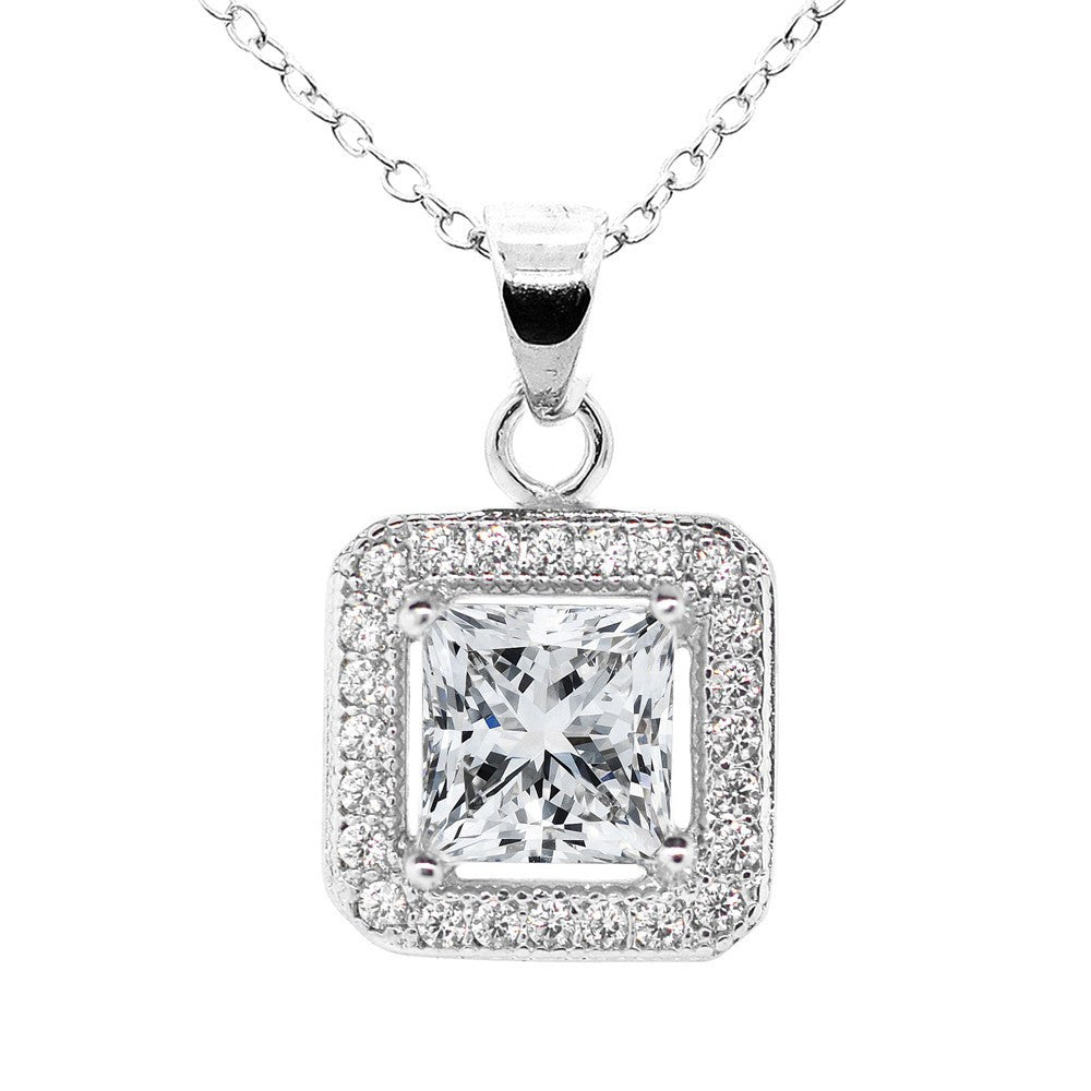 white princess in set diamond necklace style solitaire cut bezel gold shop