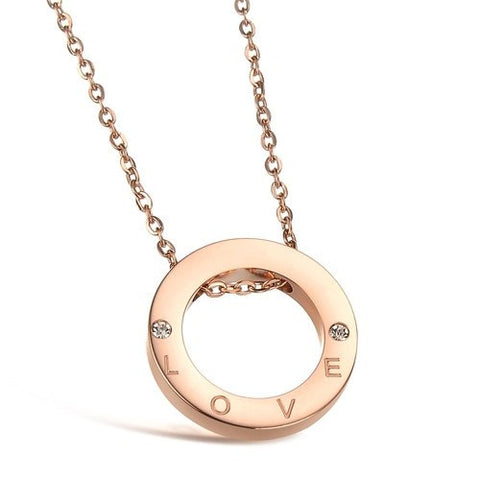 Robert Matthew Rose Gold Eternity Necklace