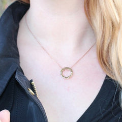 Necklace, Jewelry - Robert Matthew Rose Gold Eternity Necklace