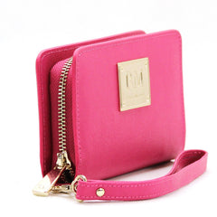 Wallet, Wristlet - Robert Matthew Aria 24K Gold Leather Wallet Wristlet - Pink Ruby