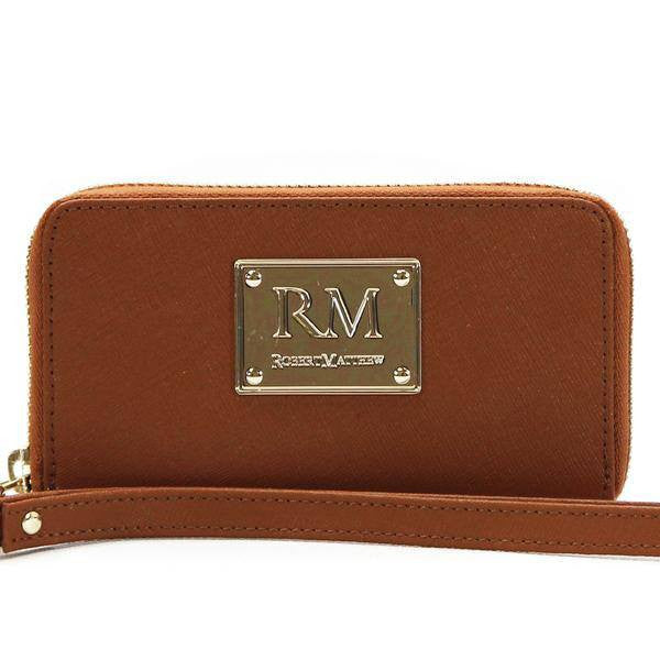 Robert Matthew Sadie 24 K Gold Leather Wallet...