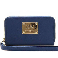 Wallet, Wristlet - Robert Matthew Sadie 24K Gold Leather Wallet Wristlet - Dark Sapphire