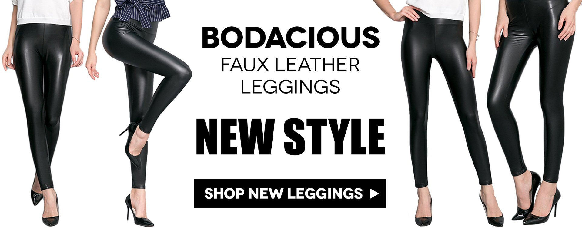 Shop new Bodacious Faux Leather Leggings for Women