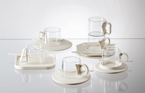 Seletti - Era - Era Glass & Porcelain Coffee Set of 6 II Onyx Creative