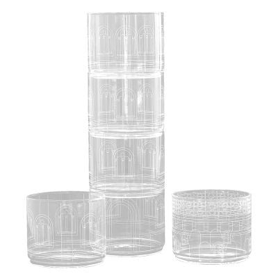 Palace by Seletti - Torre Chiara Drinking Glasses Set II Onyx Creative