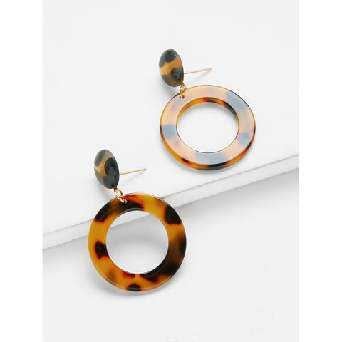 SHEIN - Open Ring Design Drop Earrings II Onyx Creative
