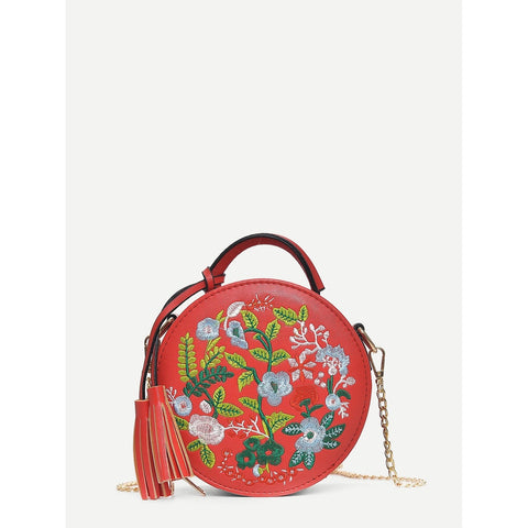 SHEIN - Floral Embroidered Crossbody II Onyx Creative