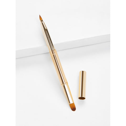 SHEIN - Two Head Metal Handle Lip Brush II Onyx Creative