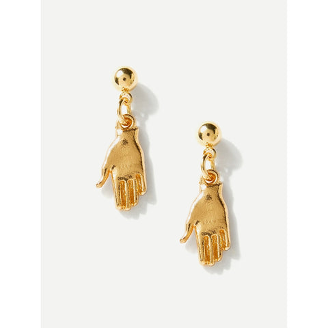 SHEIN - Gold Hand Earrings II Onyx Creative