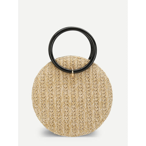 SHEIN - Round Crossbody Straw Bag II Onyx Creative