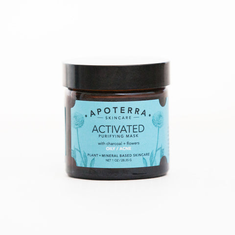 Apottera Skincare - Activated Purifying Mask with Charcoal + Flowers II Onyx Creative
