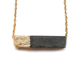 Rectangle Concrete Necklace - onyx-creative - 1