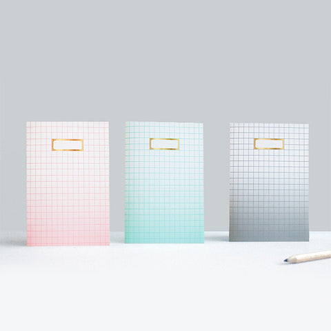 Sketch.inc - Ombre Grid Notebook x 3 II Onyx Creative