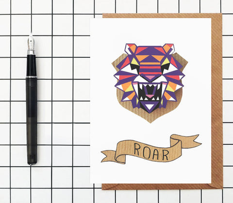 Roar Greeting Card - onyx-creative - 1