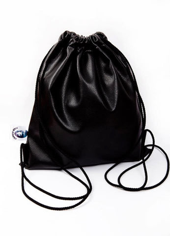 Inga Skripka - Black Leather Backpack II Onyx Creative