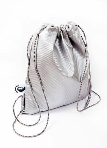 Inga Skripka - Silver Leather Backpack II Onyx Creative