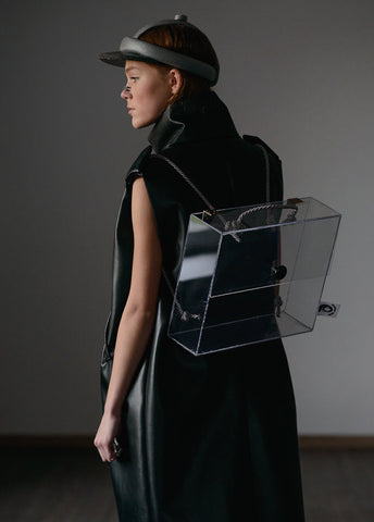 Inga Skripka - Transparent Glass Backpack II Onyx Creative