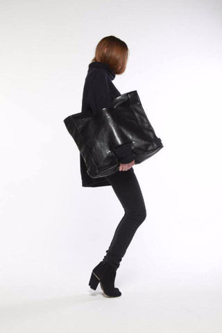 Inga Skripka - Large Leather Backpack II Onyx Creative