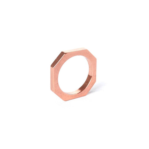OFORM - Round Copper Ring No. 5 II Onyx Creative