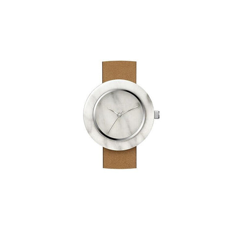 White Marble Circle Body Watch - onyx-creative - 2