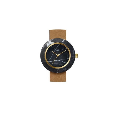 Analog Watch Co - Black Marble Circle Body Watch II Onyx Creative