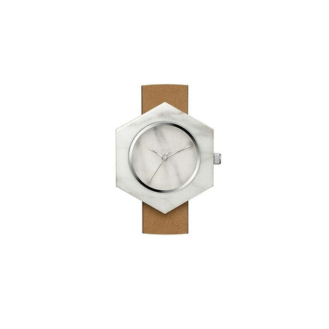White Marble Hex Body Watch - onyx-creative - 1