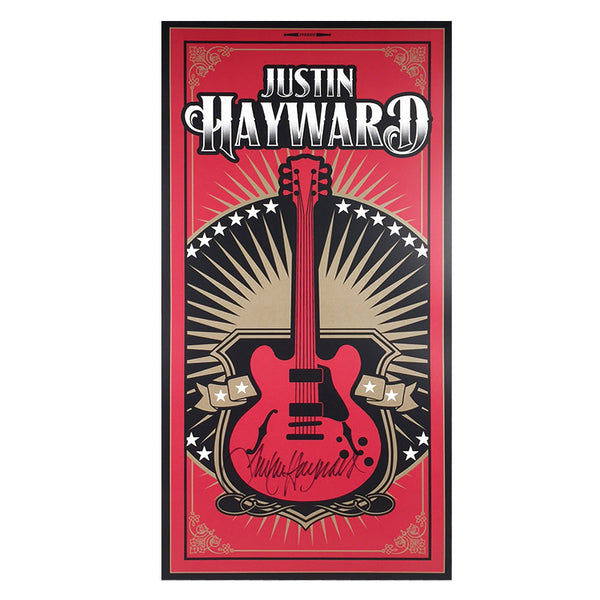 Justin Hayward Autographed Poster (12x24)