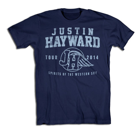 Justin Hayward Navy Athletic T-Shirt-X-Large