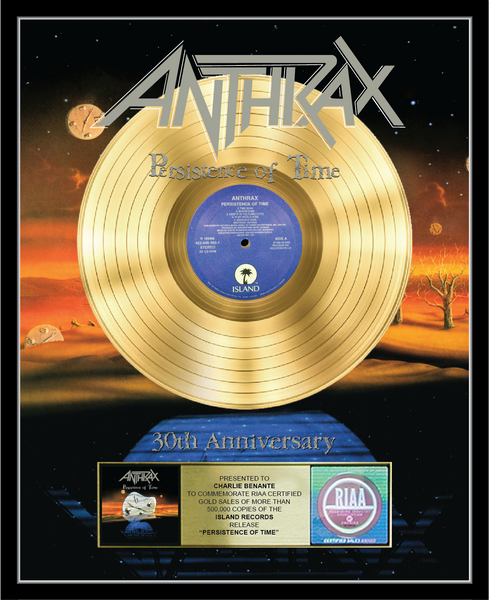 Anthrax Persistence of Time 30th Anniversary Vinyl Plaque