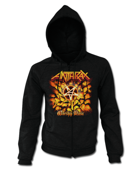 WORSHIP MUSIC ZIP UP HOODIE - X-Large