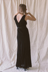 1930s Bias Cut Velvet Gown