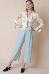 1930s Sky Fine Wool Beach Pajamas | sz 4/6