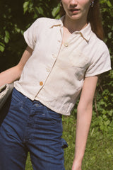 1940s Handmade Cotton Farm Shirt