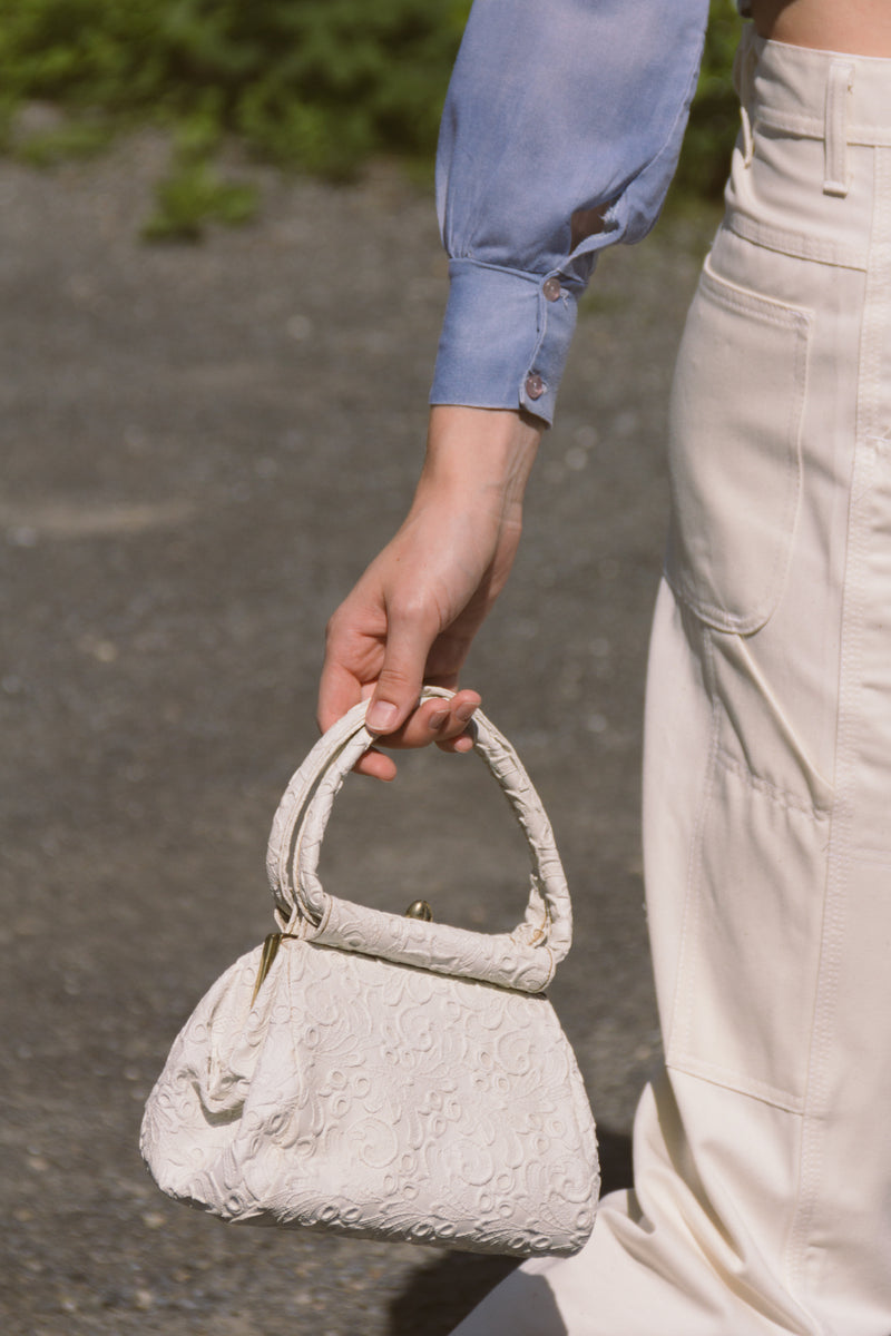 1950s Lace Top Handle Lady Bag
