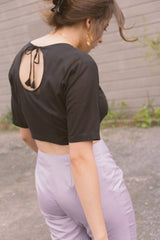 1950s Open Back Crop Top | M