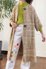 1960s Natural Fiber Tweed Town Coat