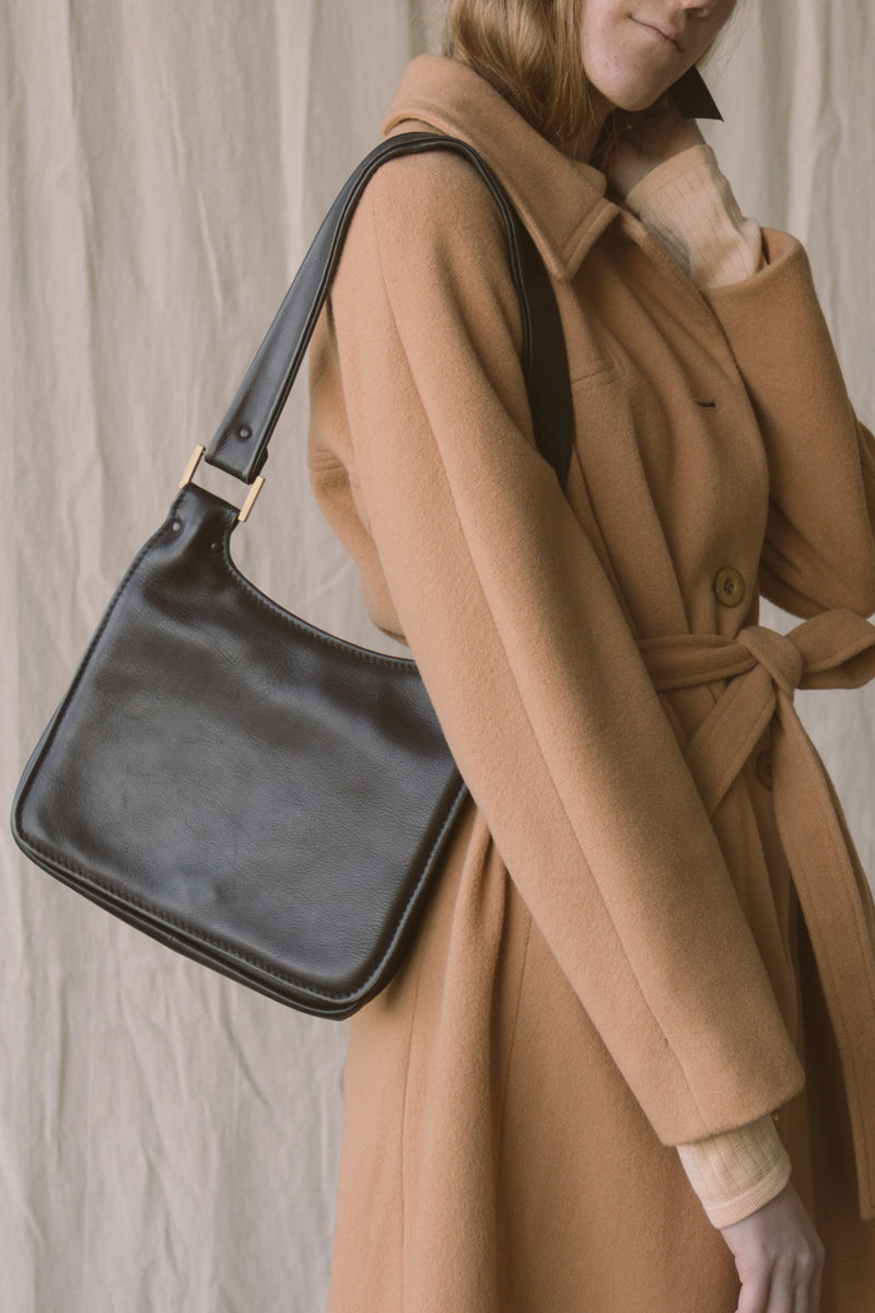 1960s Leather Envelope Shoulder Bag
