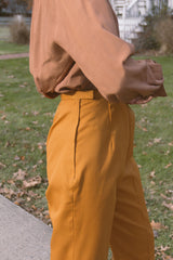 1960s Ginger Twill Cigarette Trousers