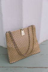 1960s Whiting & Davis Chain Metal Bag