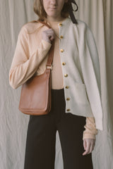 1960s Tan Leather Shoulder Bag