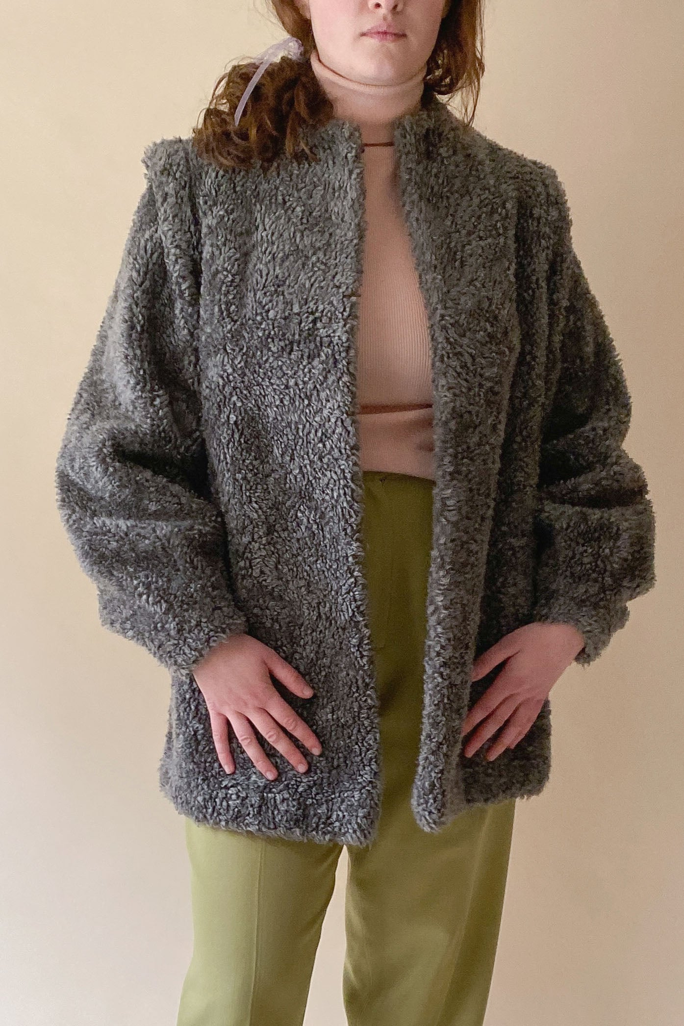 1970s Ash Teddy Short Coat