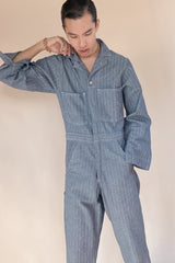1970s Deadstock Herringbone Coveralls