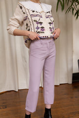 1990s Lilac Cropped Trousers