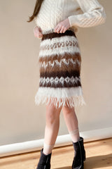 1970s Mohair Shag Knit Skirt